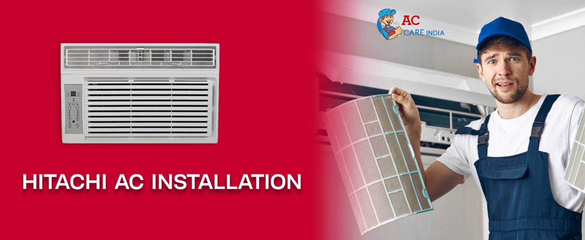 Hitachi AC Installation 9266608882