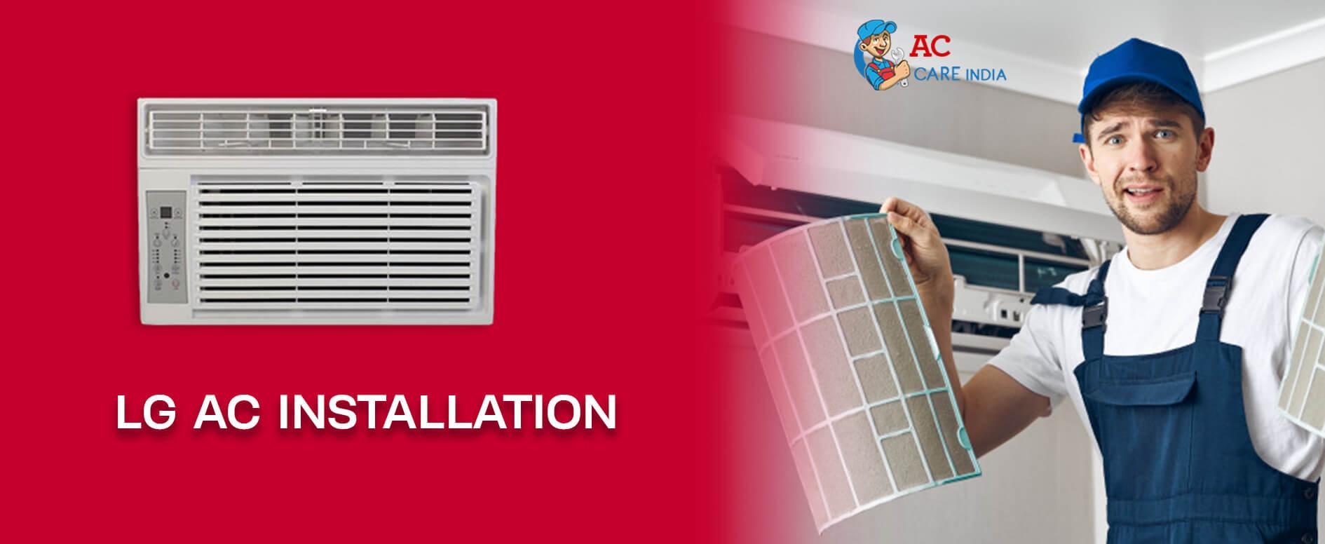LG AC Installation 9266608882